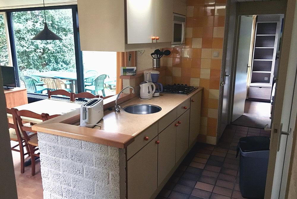 Keuken in de bungalow, Center Parcs Het Meerdal