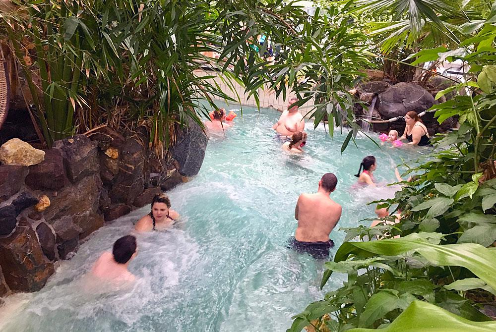 Wildwaterbaan finish, Aqua Mundo Center Parcs Het Meerdal